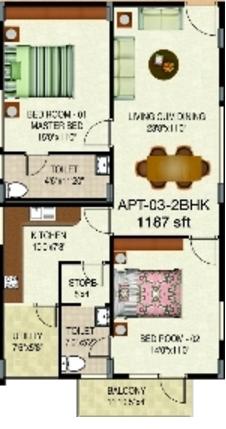 Ambe Residency, Bangalore - Floor Plan