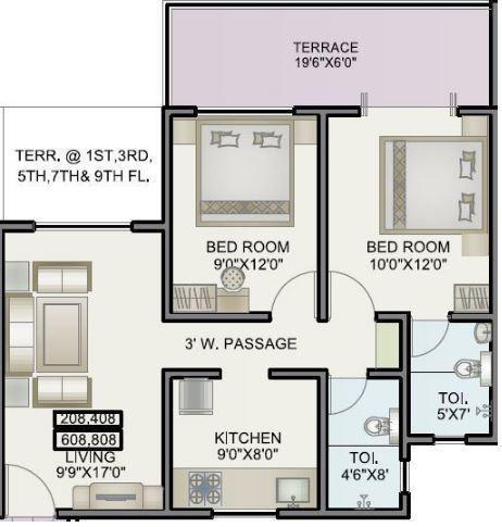 Alfa Homes Phase II, Pune - Floor Plan