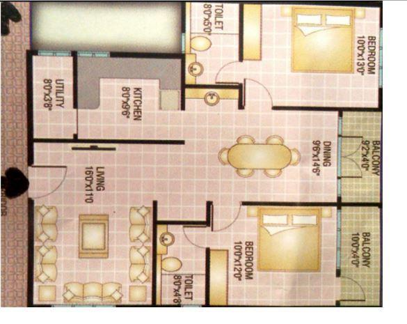 Jaya Hibiscus Apartment, Bangalore - Floor Plan