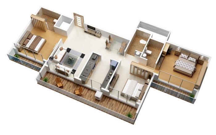 Shelter Paradise, NaviMumbai - Floor Plan