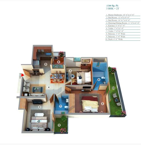 Gayatri Life, GreaterNoida - Floor Plan