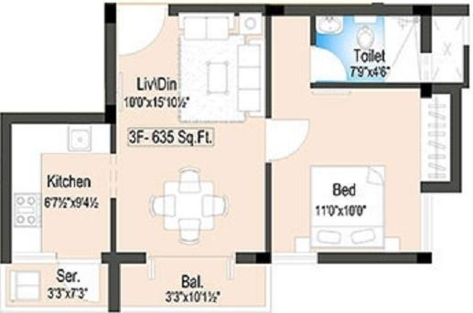 Optima Blend, Chennai - Floor Plan