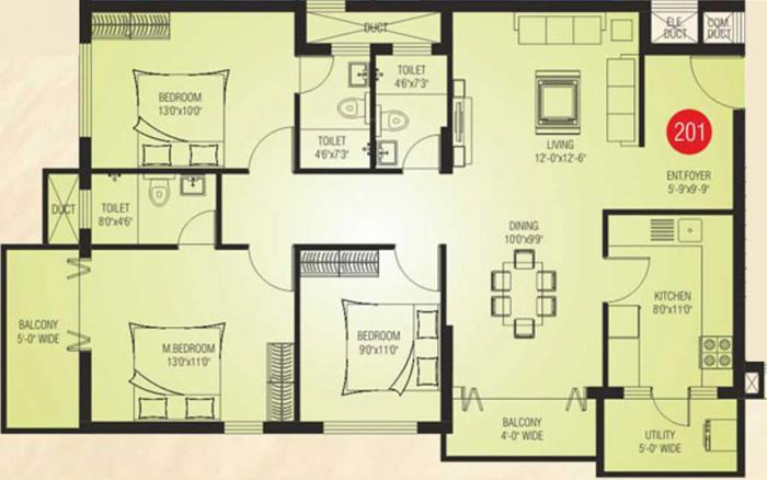 Shakthi Empire, Mangalore - Floor Plan