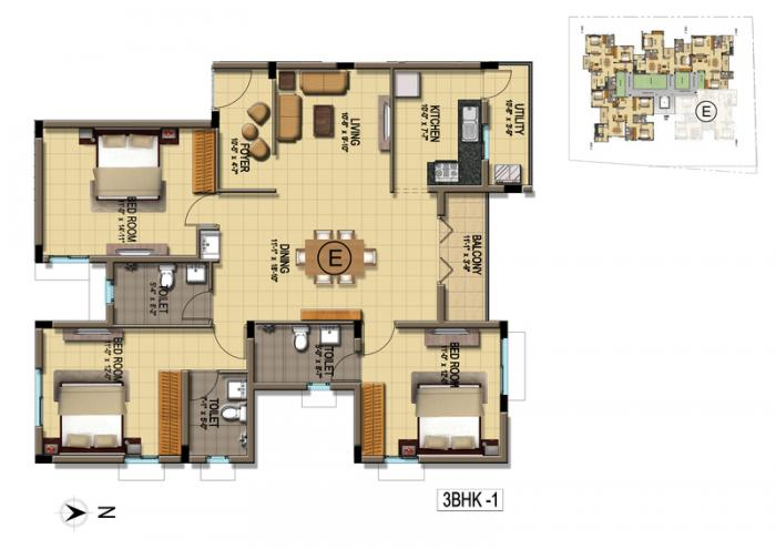 BBCL Harsham, Chennai - Floor Plan