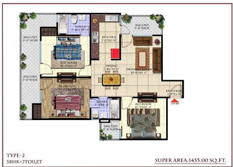 Andromida Planet One, Ghaziabad - Floor Plan