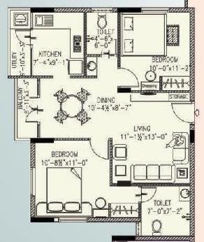 Ambiente Paradise, Chennai - Floor Plan