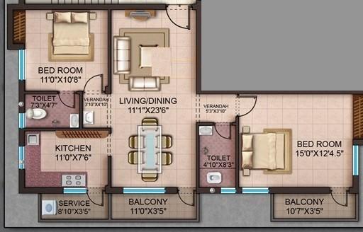Akshar Anugraha, Chennai - Floor Plan