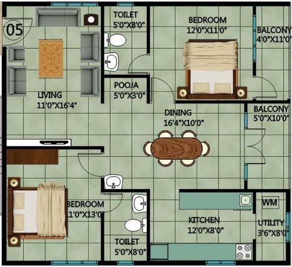 Srishti Pradhan, Bangalore - Floor Plan