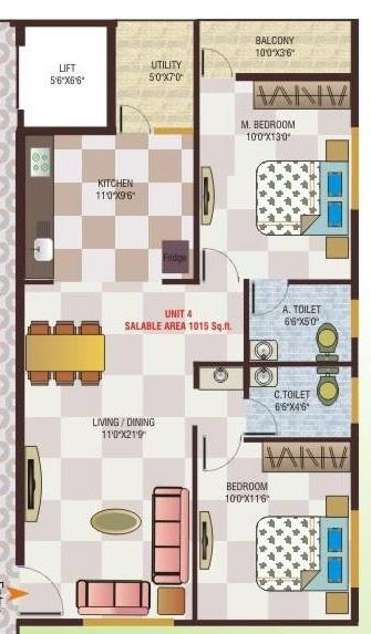 Asrithas Lifestyle, Bangalore - Floor Plan