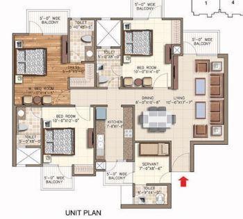 Rudra Aqua Casa, GreaterNoida - Floor Plan