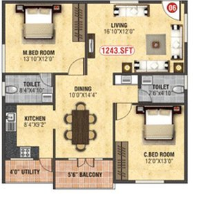 BM Homes, Bangalore - Floor Plan