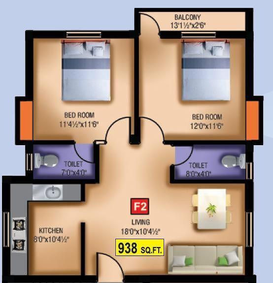 VGK Blue Bell, Chennai - Floor Plan