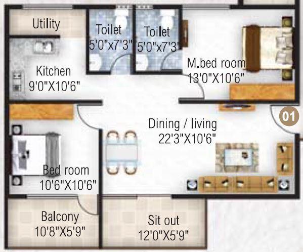 Atco Sapphire, Bangalore - Floor Plan