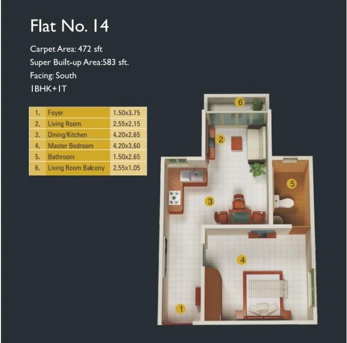MJ Lifestyle Amadeus, Bangalore - Floor Plan
