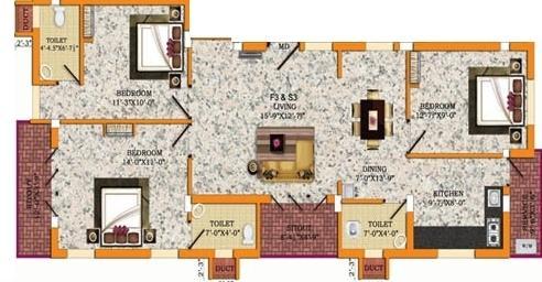 SPS Akshith Apartment, Chennai - Floor Plan