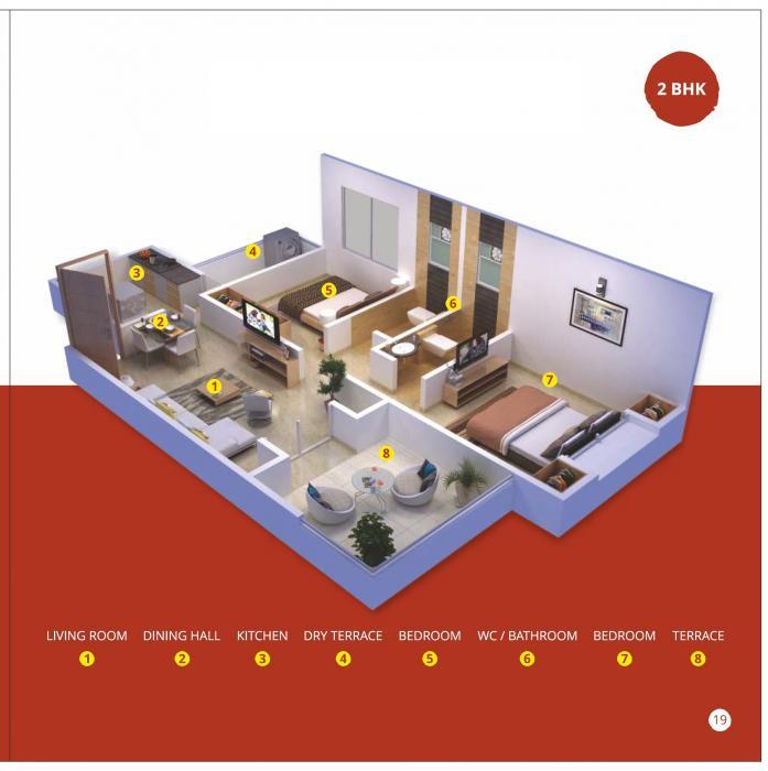 Triaa Punyavaastu, Pune - Floor Plan