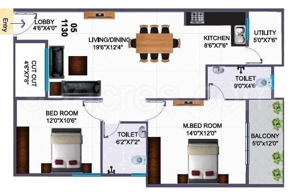 Silicon Indraprastha, Bangalore - Floor Plan