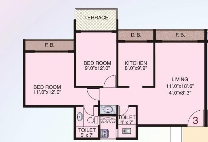 Juhi Bhumika Residency, NaviMumbai - Floor Plan