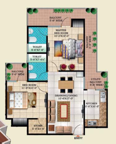 Windsor Paradise 2, Ghaziabad - Floor Plan