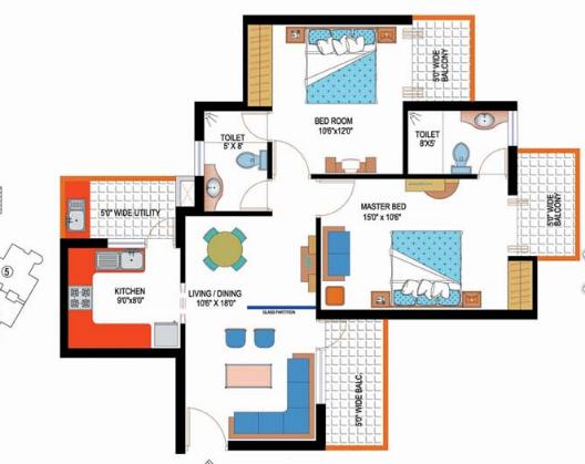Amrapali Sapphire Phase-II, Noida - Floor Plan