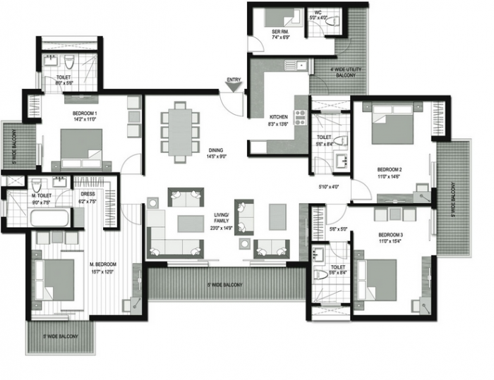 Lotus Isle, Noida - Floor Plan
