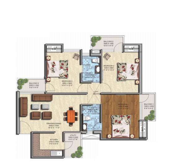 Sikka Kaamya Greens, GreaterNoida - Floor Plan