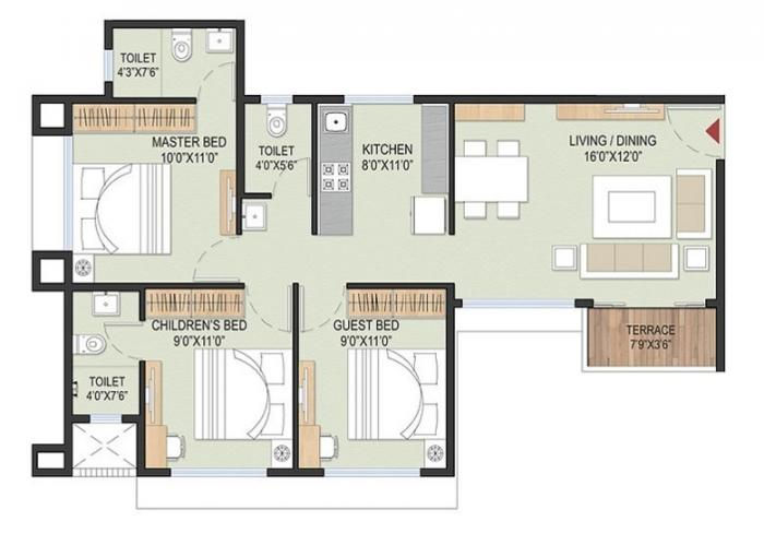 Samraat Symphony, Nashik - Floor Plan
