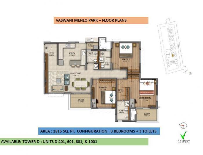 Vaswani Menlo Park, Bangalore - Floor Plan