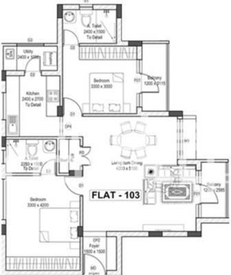 SPP Brizo Apartment, Coimbatore - Floor Plan