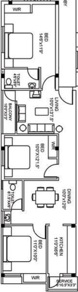 Vinoth Venera, Chennai - Floor Plan