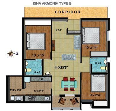 Isha Armonia, Coimbatore - Floor Plan