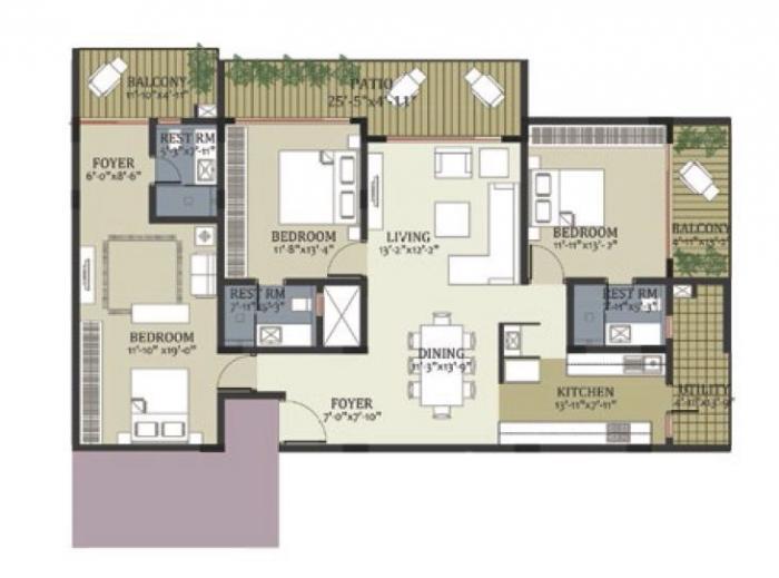 Chick Cottage Residences, Bangalore - Floor Plan