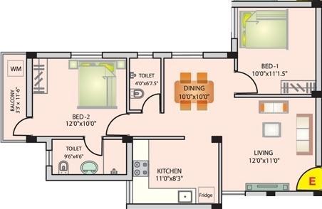 Asvini Kuberan, Coimbatore - Floor Plan