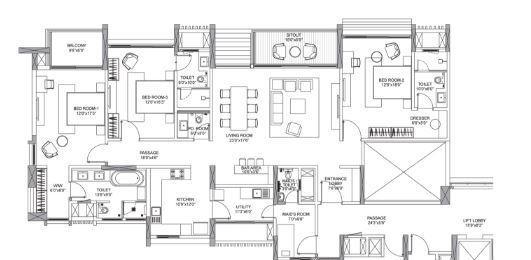 ABIL Castel Royale Excellente, Pune - Floor Plan