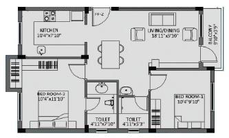 Aauxin Dhaksha, Chennai - Floor Plan