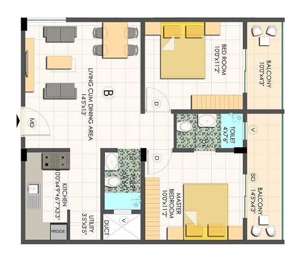 White Coral Cocoon, Bangalore - Floor Plan
