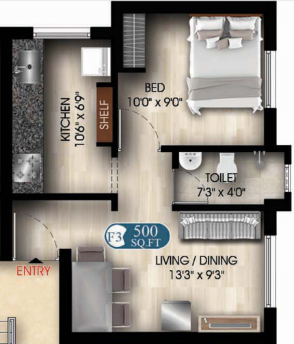 DAC Classy, Chennai - Floor Plan
