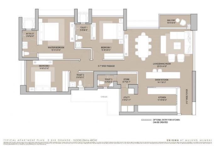 Oberoi Enigma, Mumbai - Floor Plan