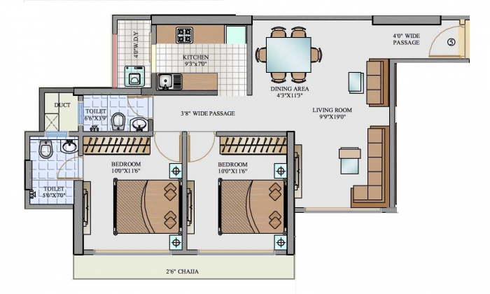 SMGK Associates Residency, Mumbai - Floor Plan