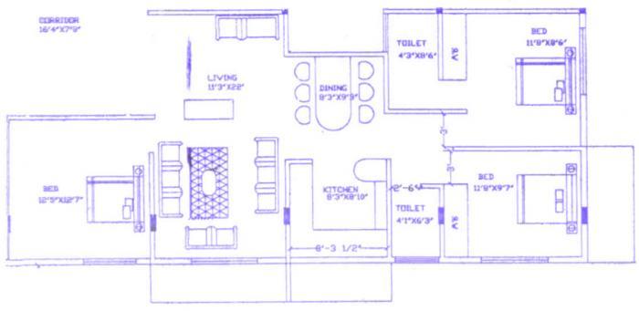 KB Apartments, Bangalore - Floor Plan