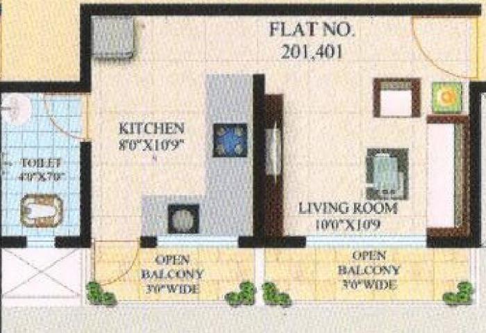 Samarth Srushti , Pune - Floor Plan