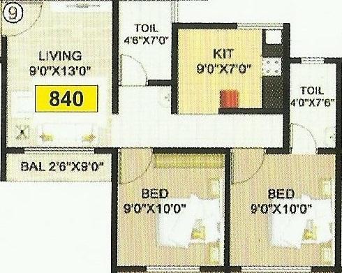 Shelter 99 Madhukar Galaxy, Mumbai - Floor Plan