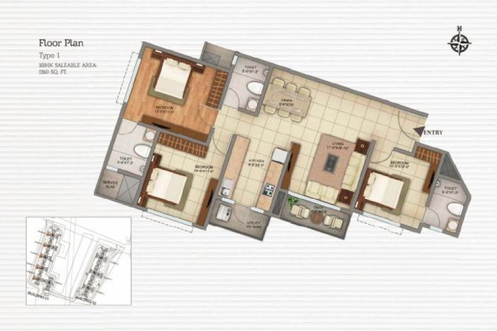Shriram Greenfield Phase 2, Bangalore - Floor Plan
