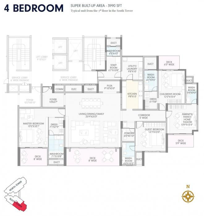 B&B Opulent Spire, Bangalore - Floor Plan