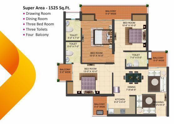Ratandeep Silver Homes, Ghaziabad - Floor Plan
