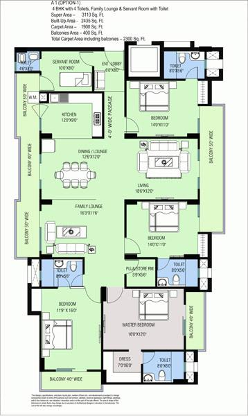 Purvanchal Kings Court, Lucknow - Floor Plan