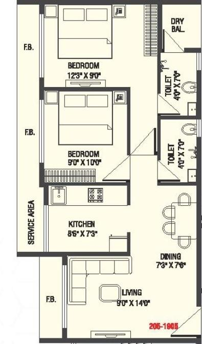 Om Aditya Paraiso, Thane - Floor Plan