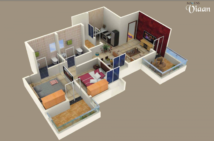 Mavens Viaan, Pune - Floor Plan