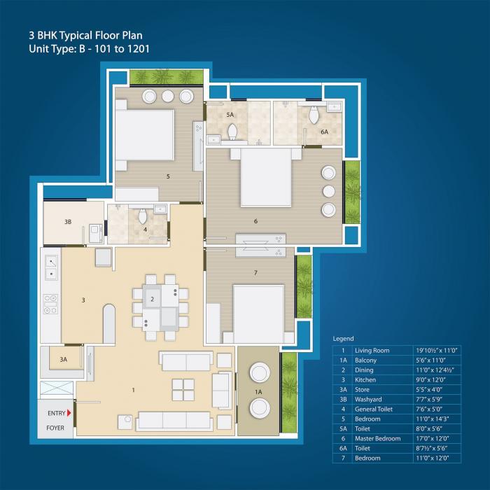 Nishant Ratnaakar Halcyon, Ahmedabad - Floor Plan