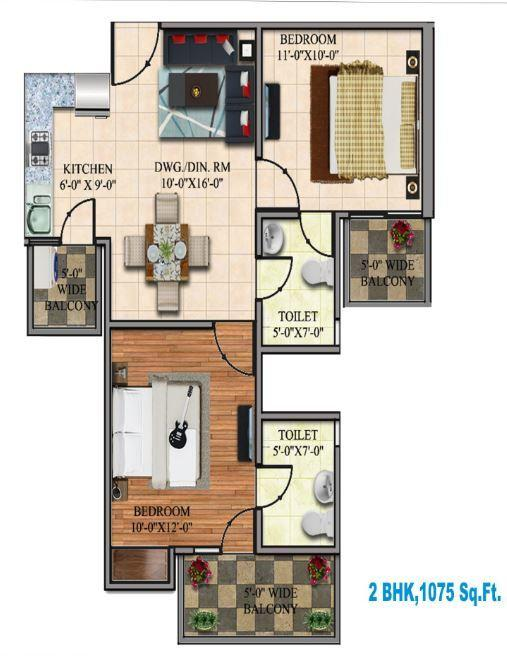 DevLandcon Hitaishi Heights, Ghaziabad - Floor Plan